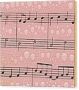 Balloons And Music Wood Print