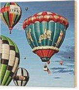 Balloons Away Wood Print
