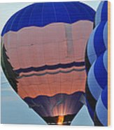 Balloons Before Sunset Wood Print