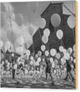 Balloons For Charity Wood Print