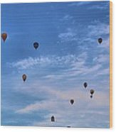 Balloons Galore Wood Print