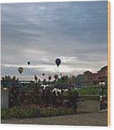 Balloons Over Lewiston Wood Print
