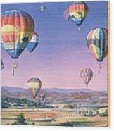 Balloons Over San Dieguito Wood Print