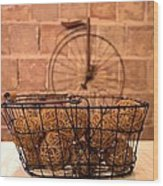 Balls In The Basket Wood Print