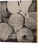 Balls Of String Wood Print