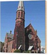Ballston Spa Church Wood Print