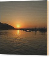 Ballycotton Harbour Sunset Wood Print