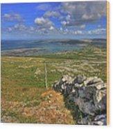 Ballyvaughan View Wood Print