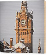 Balmoral Hotel Clock Tower Wood Print