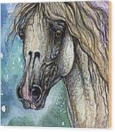 Balon Polish Arabian Horse Portrait 4 Wood Print
