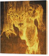 Balrog Of Morgoth Wood Print by Curtiss Shaffer