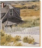 Balston Beach House Wood Print by Karol Wyckoff