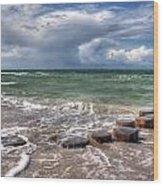Baltic Beach Wood Print