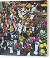 Baltic Flower Shop Wood Print