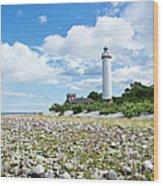 Baltic Sea Lighthouse Wood Print