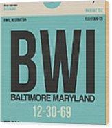 Baltimore Airport Poster 1 Wood Print