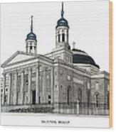 Baltimore Basilica Wood Print