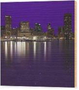 Baltimore Bleeds Purple Believe Wood Print