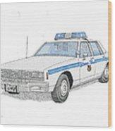 Baltimore City Police Cruiser Wood Print by Calvert Koerber