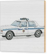Baltimore City Police Vehicle Wood Print by Calvert Koerber