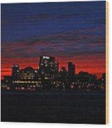 Baltimore Harbor Sunset Wood Print
