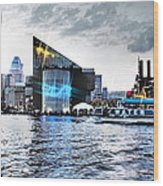 Baltimore - Harborplace - Inner Harbor At Night  Wood Print