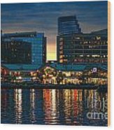 Baltimore Harborplace Light Street Pavilion Wood Print