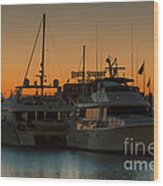 Baltimore Inner Harbor Marina At Dawn I Wood Print
