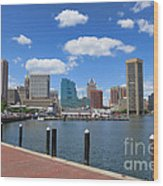 Baltimore Inner Harbor Wood Print by Olivier Le Queinec