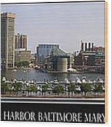 Baltimore Inner Harbor Panorama Wood Print