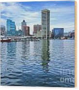 Baltimore On The Water Wood Print