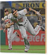 Baltimore Orioles v Pittsburgh Pirates Wood Print