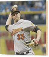 Baltimore Orioles v Tampa Bay Rays Wood Print
