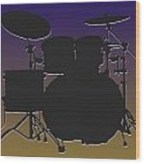 Baltimore Ravens Drum Set Wood Print