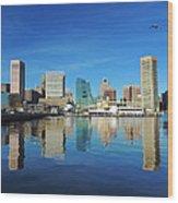 Baltimore Skyline From The Innner Harbor Wood Print