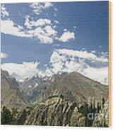 Baltit Fort In Hunza In Pakistan Wood Print