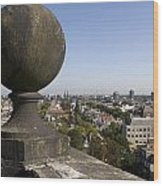 Balustrade And Views From The Westerkerk In Amsterdam Netherlands Wood Print
