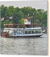 Bama Belle On The Black Warrior River Wood Print
