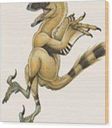 Bambiraptor, A Bird-like Dromaeosaurid Wood Print