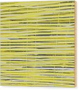 Bamboo Fence - Yellow And Gray Wood Print by Saya Studios
