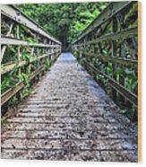 Bamboo Forest Bridge Wood Print