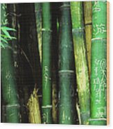 Bamboo Graffiti Pano - Sichuan Province Wood Print by Anna Lisa Yoder