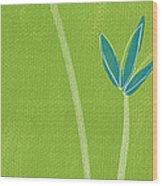 Bamboo Namaste Wood Print by Linda Woods
