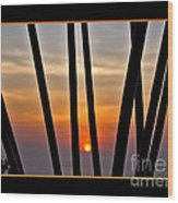 Bamboo Sunset - Black Frame Wood Print