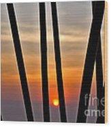Bamboo Sunset Wood Print