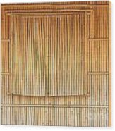 Bamboo Wall And Shutters Wood Print