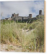 Bamburgh Castle From The Dunes Wood Print
