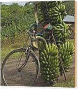 Banana Bike Wood Print