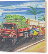 Banana Delivery In Cameroon 02 Wood Print