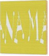 Banana Manna - Yellow - Color - Letter Art Wood Print